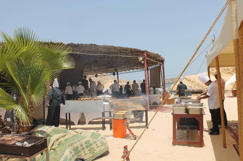 A staff party in Oman Dive Centre